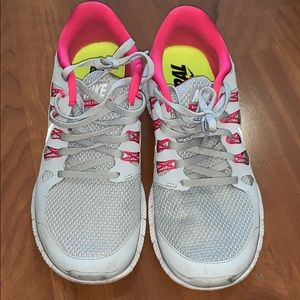 Nike Running Sneakers Grey and Pink - 9.5